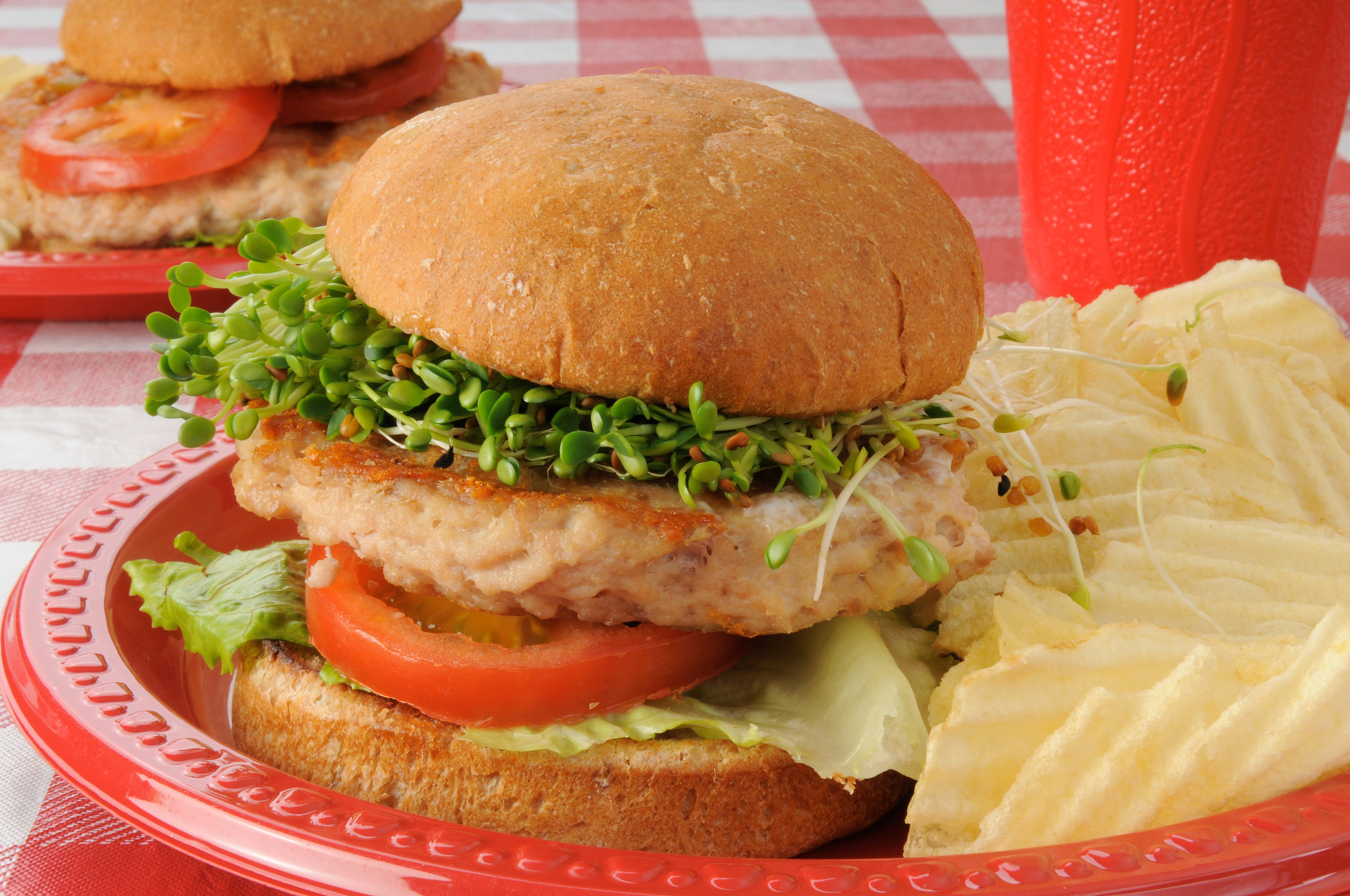 Food Recipe Turkey Burger