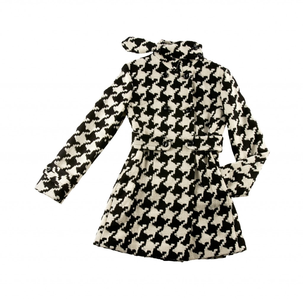 Fashion Black White Coat